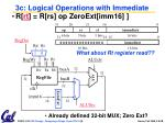3c logical operations with immediate1