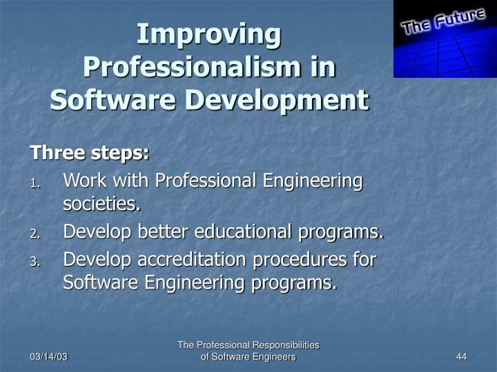 Improving Professionalism in Software Development