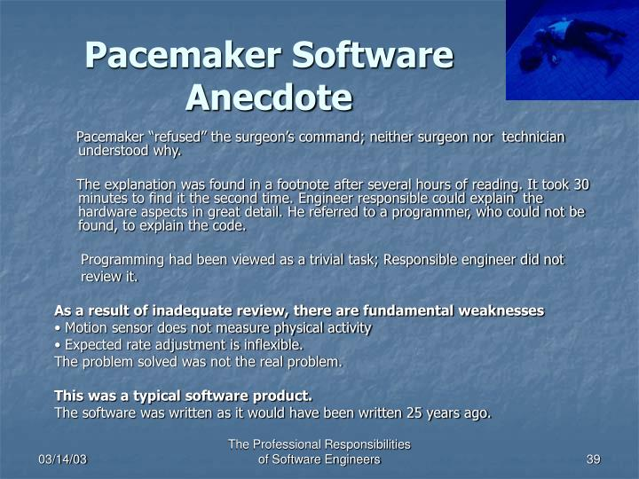 Pacemaker Software Anecdote