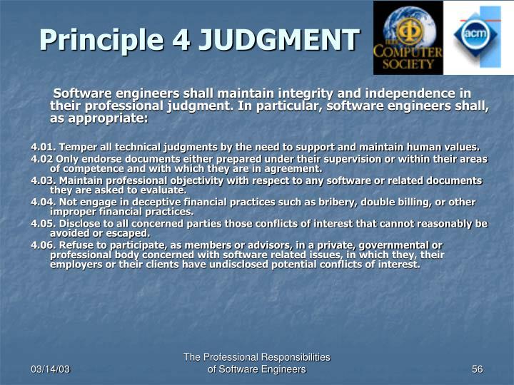 Principle 4 JUDGMENT