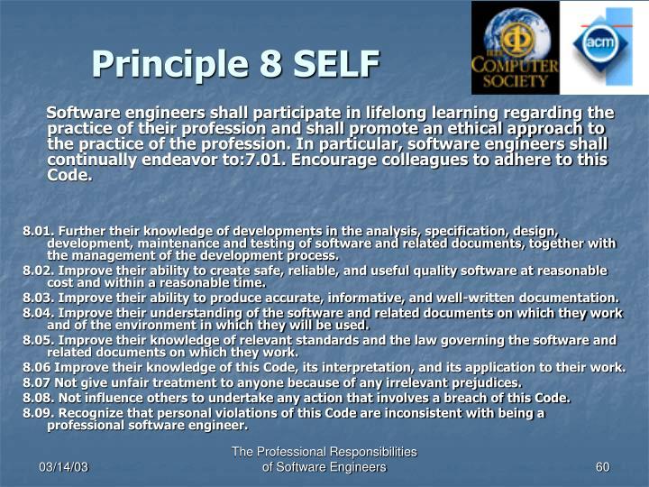 Principle 8 SELF