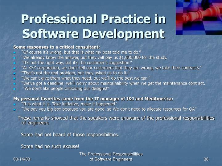 Professional Practice in Software Development