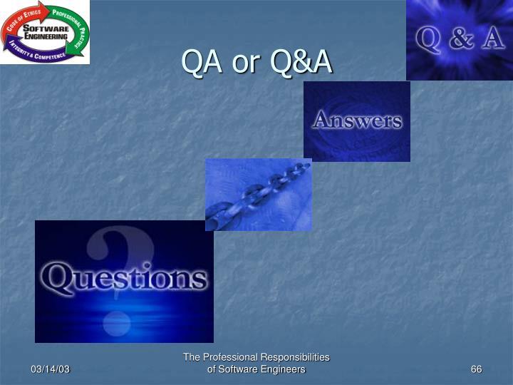 QA or Q&A
