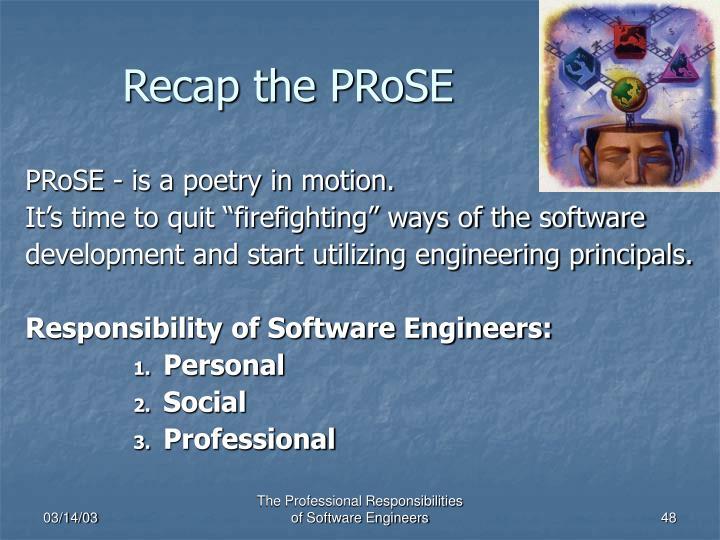 Recap the PRoSE