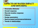 aspects of water impact and ditching