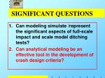 significant questions1