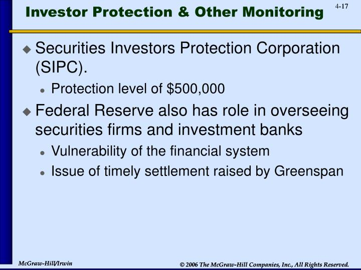 Investor Protection & Other Monitoring