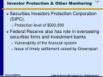 investor protection other monitoring