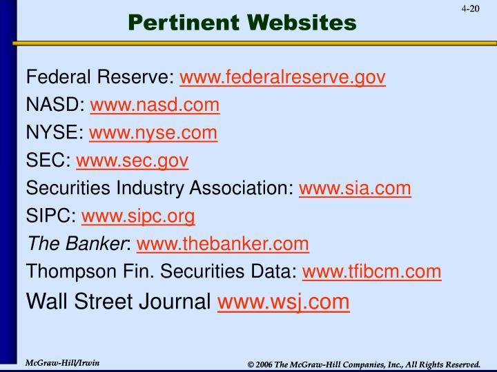Pertinent Websites