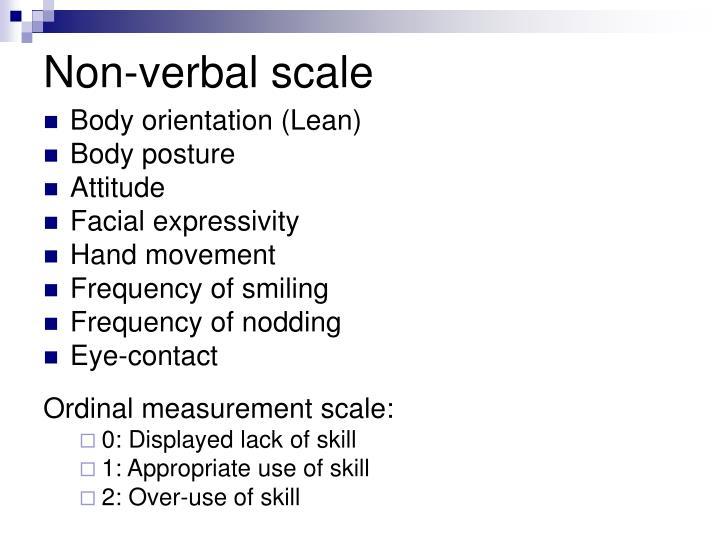 Non-verbal scale