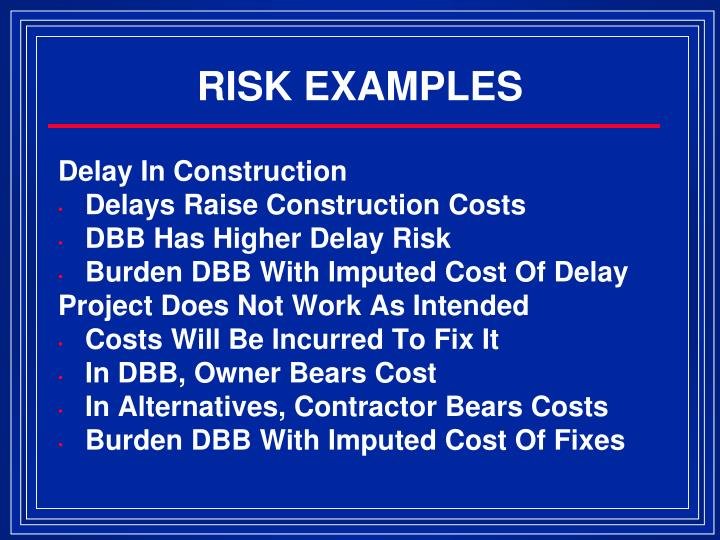 RISK EXAMPLES