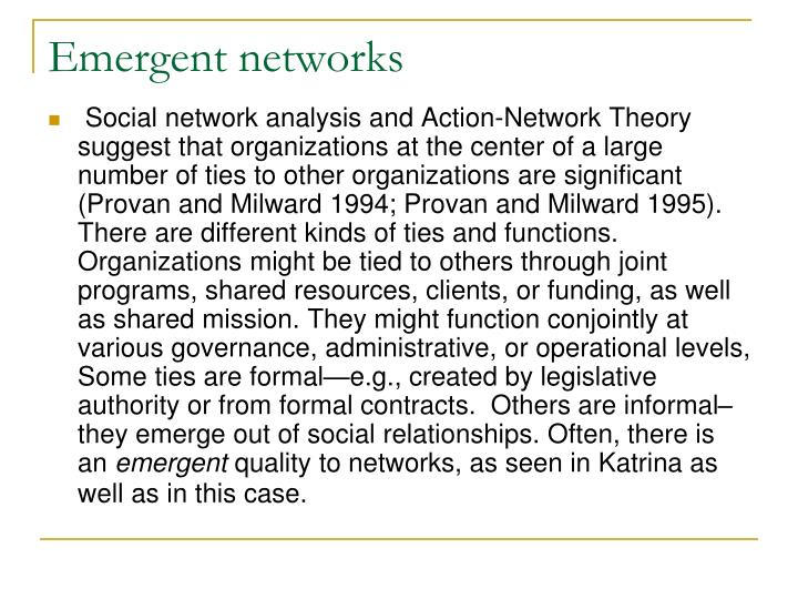 Emergent networks