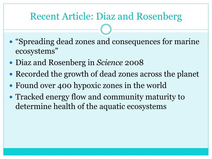 Recent Article: Diaz and Rosenberg