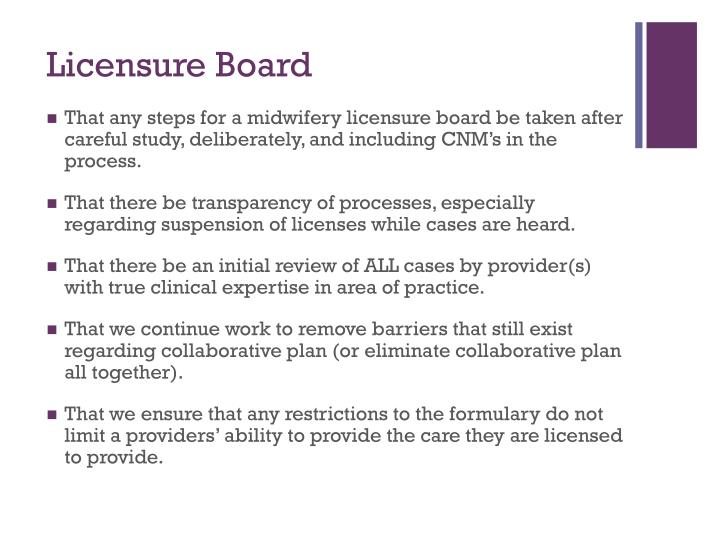 Licensure Board
