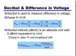 decibel difference in voltage