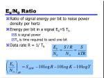 e b n 0 ratio