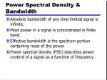 power spectral density bandwidth