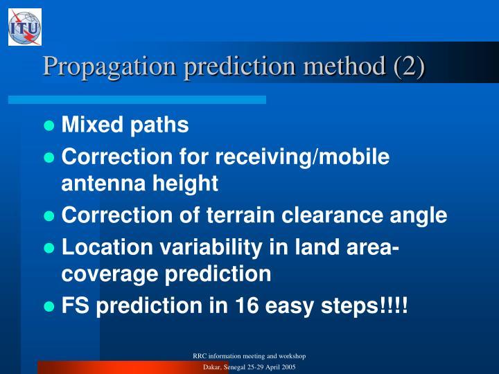 Propagation prediction method (2)