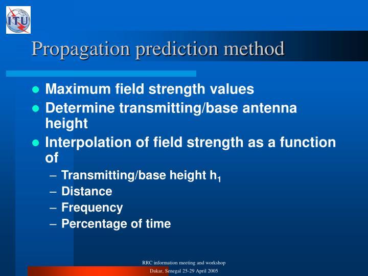 Propagation prediction method