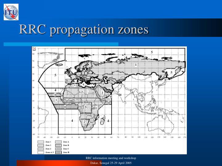 RRC propagation zones