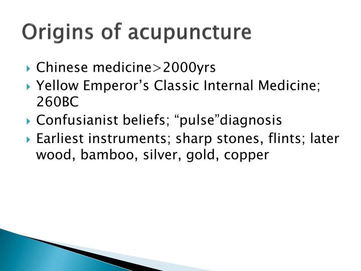 Origins of acupuncture