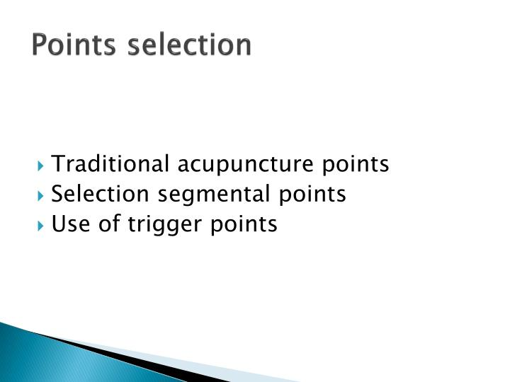 Points selection