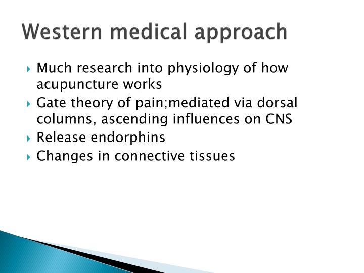 Western medical approach