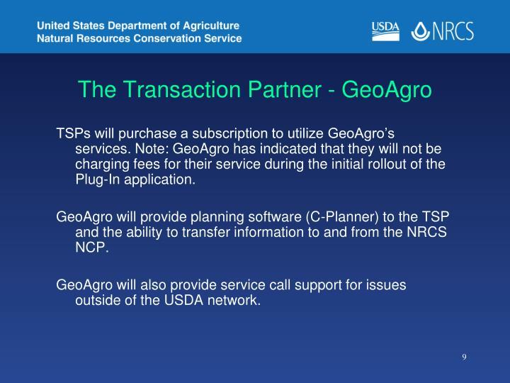 The Transaction Partner - GeoAgro
