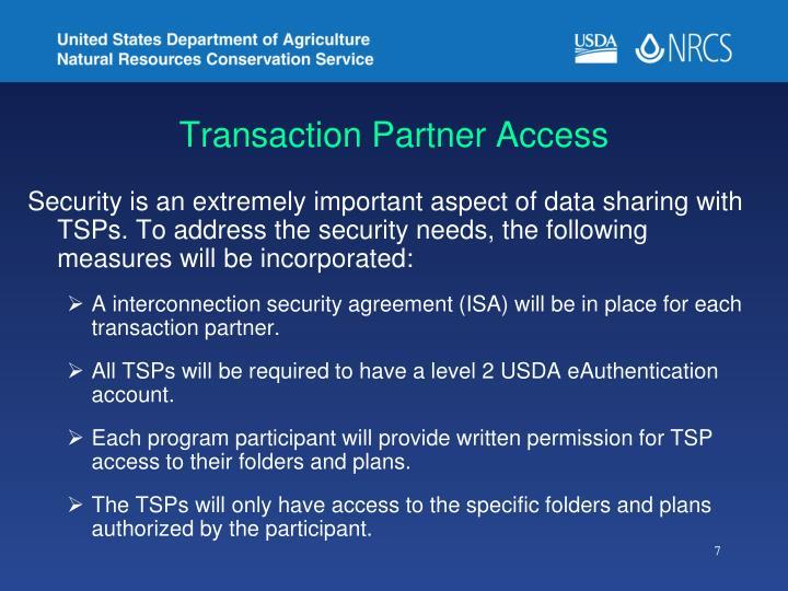 Transaction Partner Access