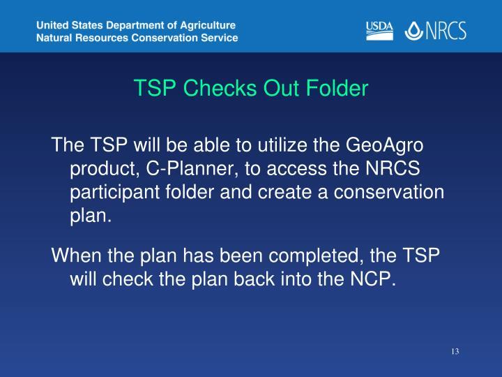 TSP Checks Out Folder