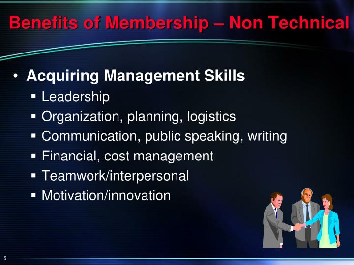 Benefits of Membership – Non Technical