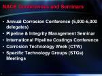 nace conferences and seminars