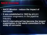 nace overview