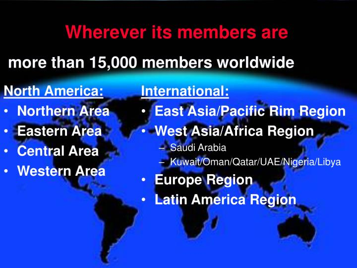 more than 15,000 members worldwide