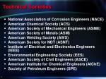 technical societies