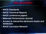 why join nace