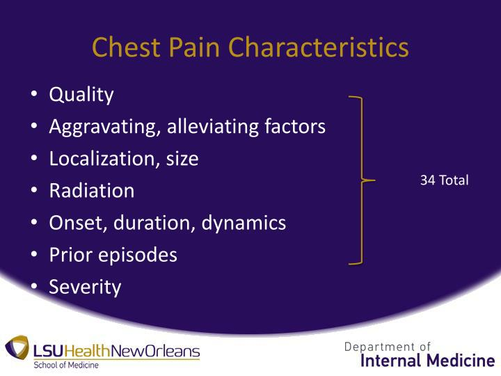 Chest Pain Characteristics