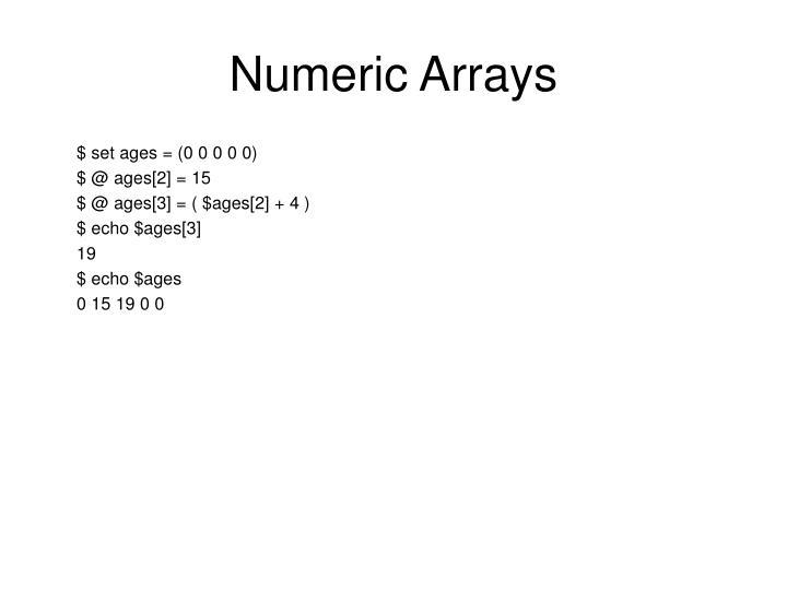 Numeric Arrays