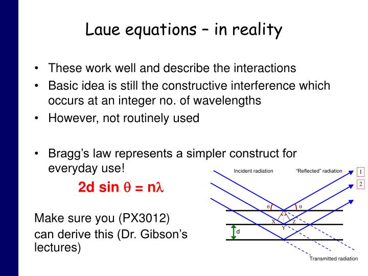 Laue equations – in reality