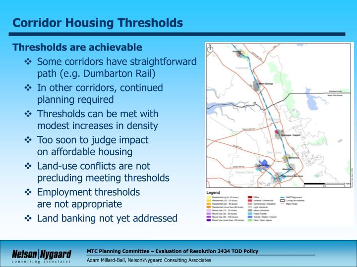 Corridor Housing Thresholds