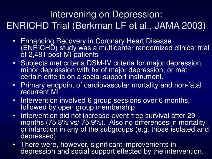 Intervening on Depression: