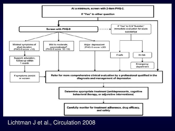 Lichtman J et al., Circulation 2008