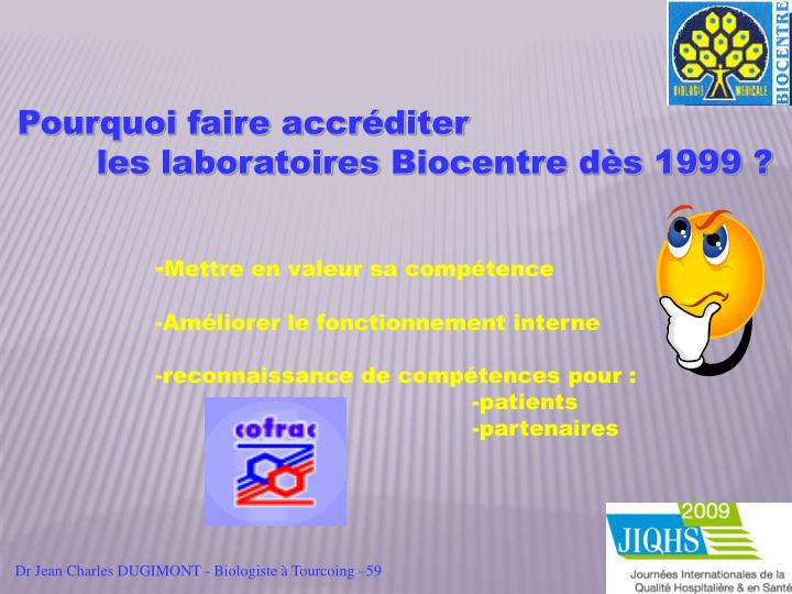Dr Jean Charles DUGIMONT - Biologiste à Tourcoing –59