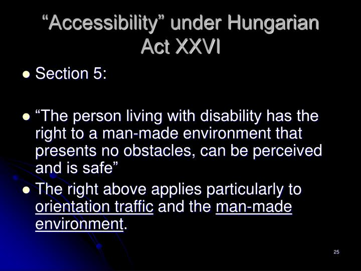 """""""Accessibility"""" under Hungarian"""