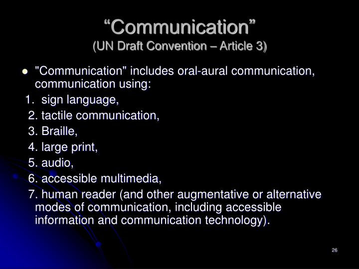 """Communication"""