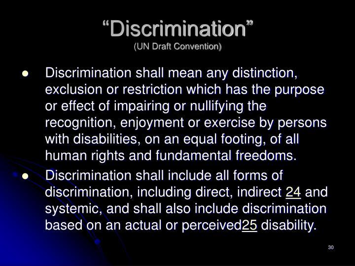 """""""Discrimination"""""""