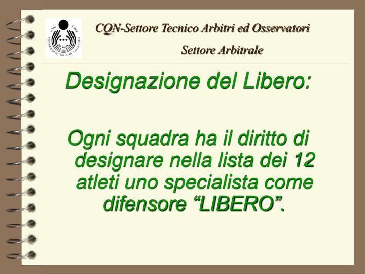 CQN-Settore Tecnico Arbitri ed Osservatori