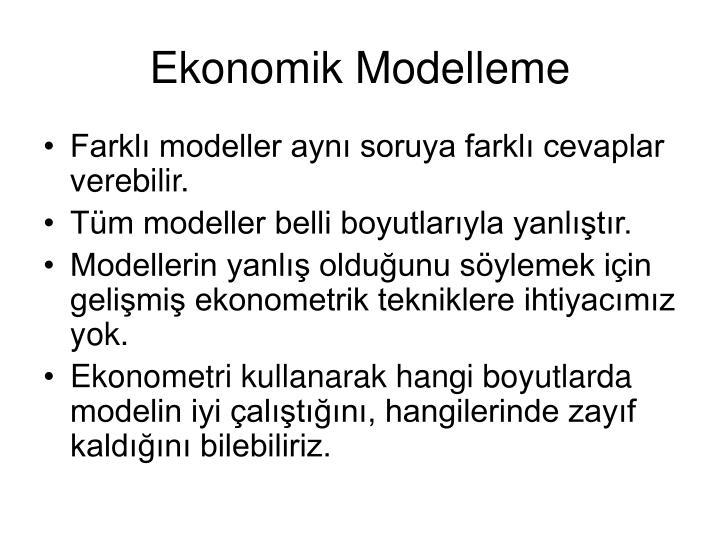 Ekonomik Modelleme