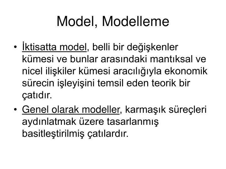 Model, Modelleme