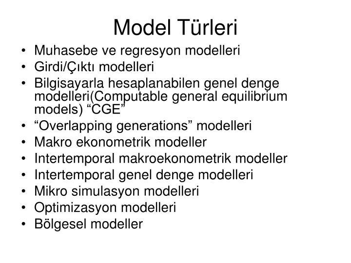Model Türleri